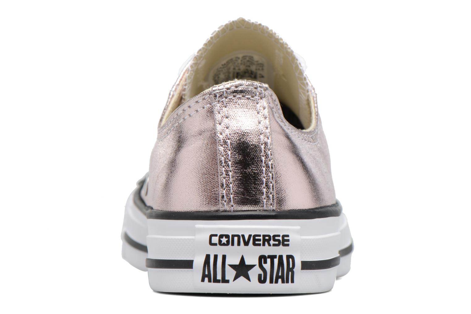 Trainers Converse Chuck Taylor All Star Ox Metallics W Bronze and Gold view from the right