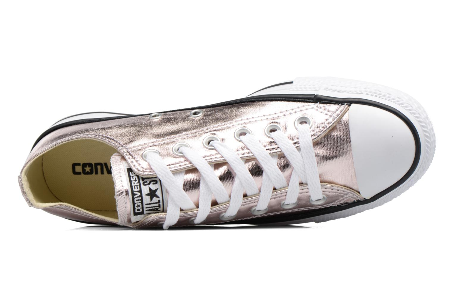 Trainers Converse Chuck Taylor All Star Ox Metallics W Bronze and Gold view from the left
