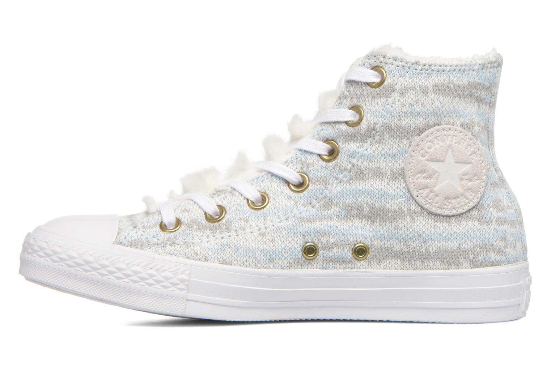 Baskets Converse Ctas Winter Knit+Fur Hi Blanc vue face