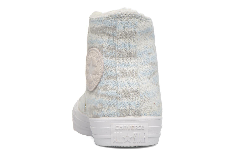 Baskets Converse Ctas Winter Knit+Fur Hi Blanc vue droite
