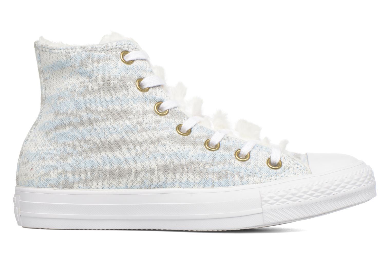 Trainers Converse Ctas Winter Knit+Fur Hi White back view