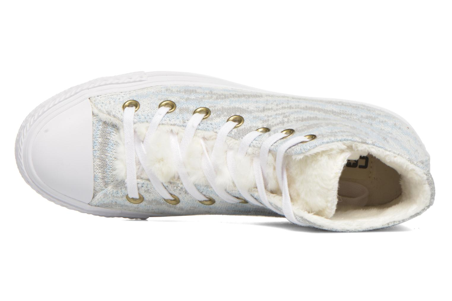 Trainers Converse Ctas Winter Knit+Fur Hi White view from the left