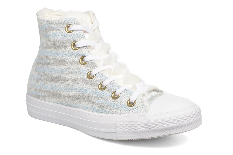 Baskets Converse Ctas Winter Knit+Fur Hi Blanc vue détail/paire