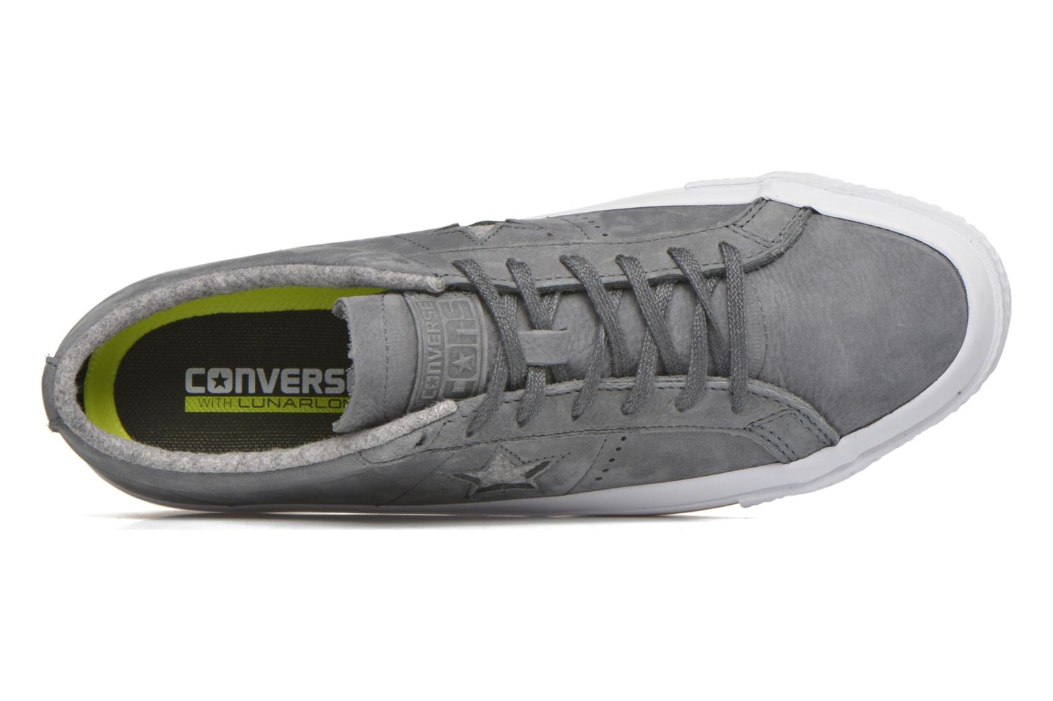 Trainers Converse One Star Nubuck Ox M Grey view from the left