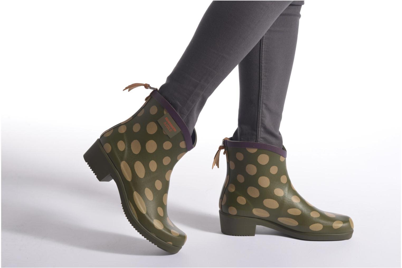 Bottines et boots Aigle Miss Juliette Bottillon BS Vert vue bas / vue portée sac