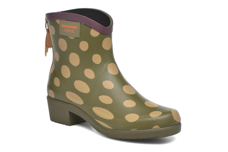Bottines et boots Aigle Miss Juliette Bottillon BS Vert vue détail/paire