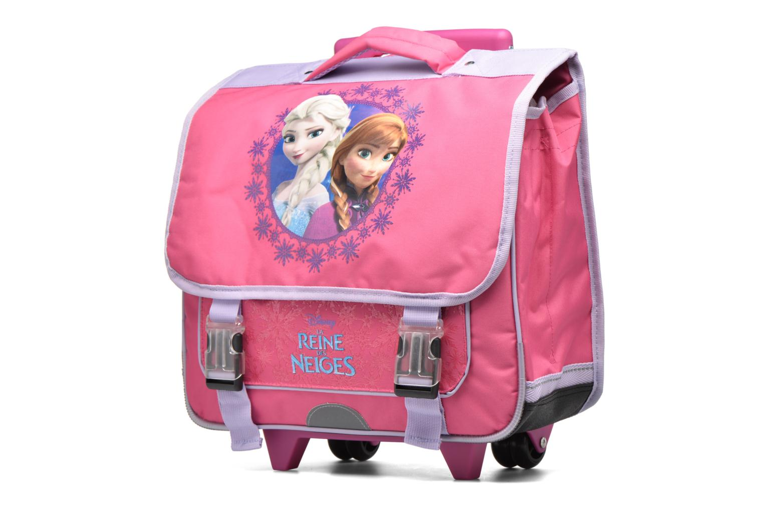 Cartable 38cm Trolley Reine des neiges - Rose