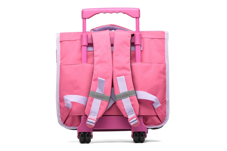 School bags Disney Cartable 38cm Trolley Reine des neiges - Pink front view
