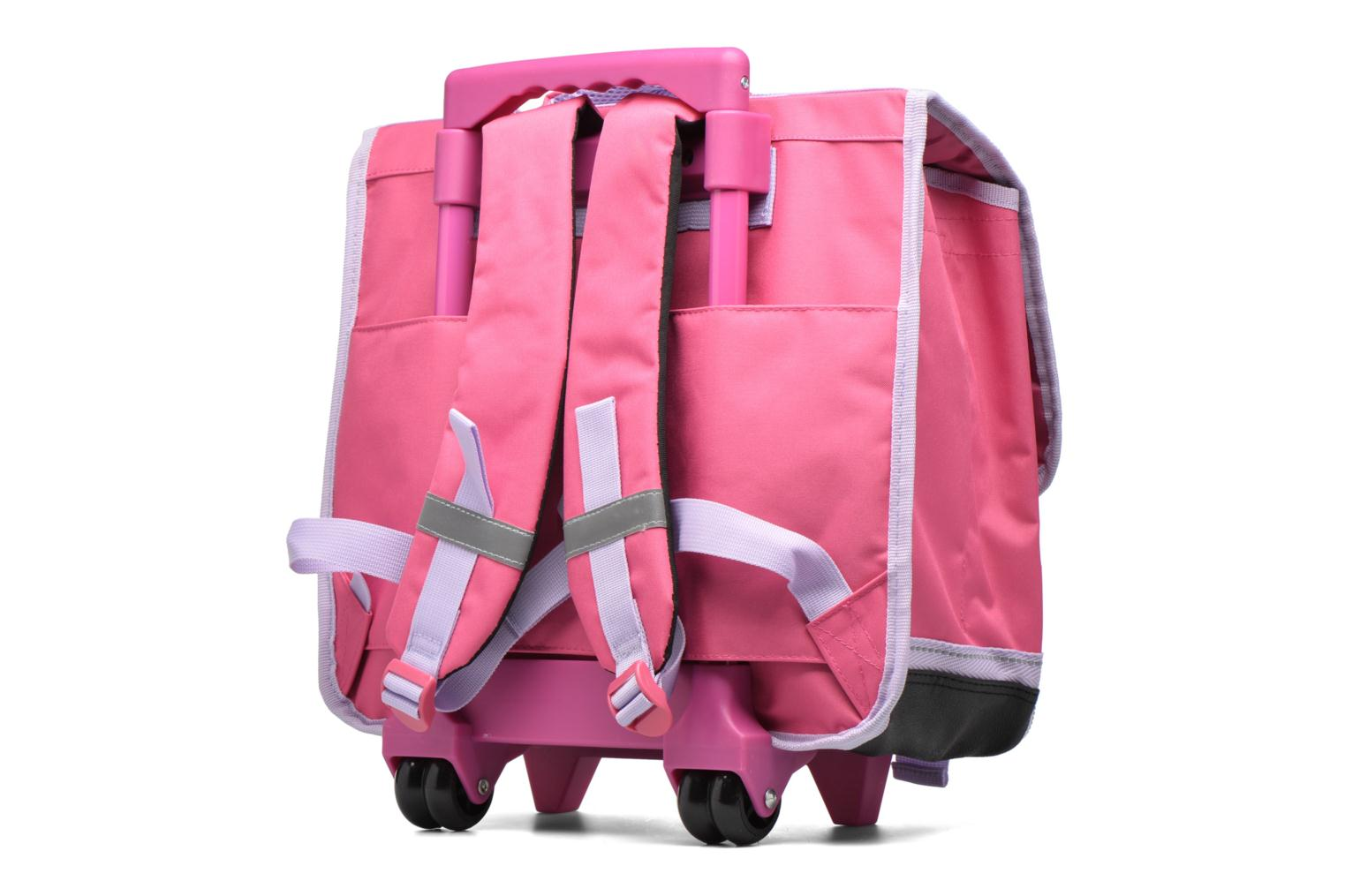School bags Disney Cartable 38cm Trolley Reine des neiges - Pink view from the right