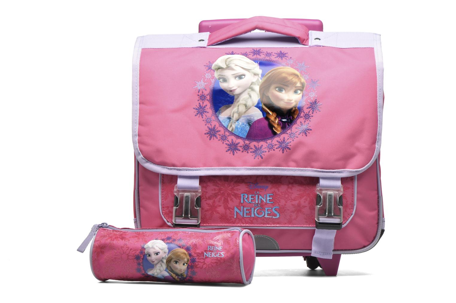 School bags Disney Cartable 38cm Trolley Reine des neiges - Pink view from the left