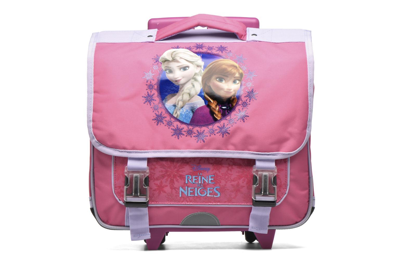 School bags Disney Cartable 38cm Trolley Reine des neiges - Pink detailed view/ Pair view