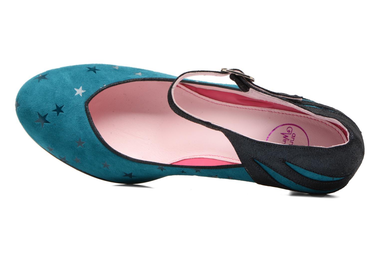 Zapatos de tacón Annabel Winship Stone Azul vista lateral izquierda