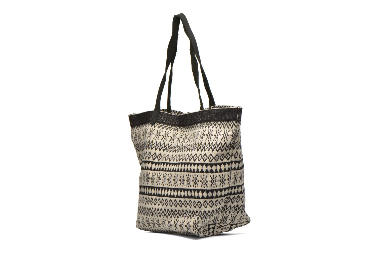 Handtaschen Esprit Flavia Shopper Cabas textile schwarz ansicht von rechts