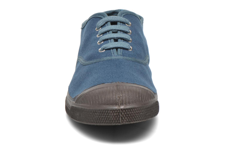 Deportivas Bensimon Tennis Vintage Velours Azul vista del modelo
