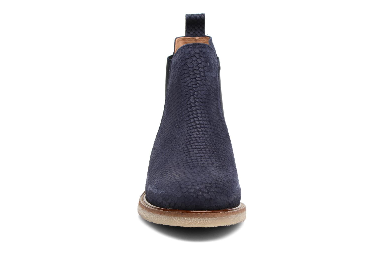 Ankle boots Bensimon Boots semelle crepe Blue model view
