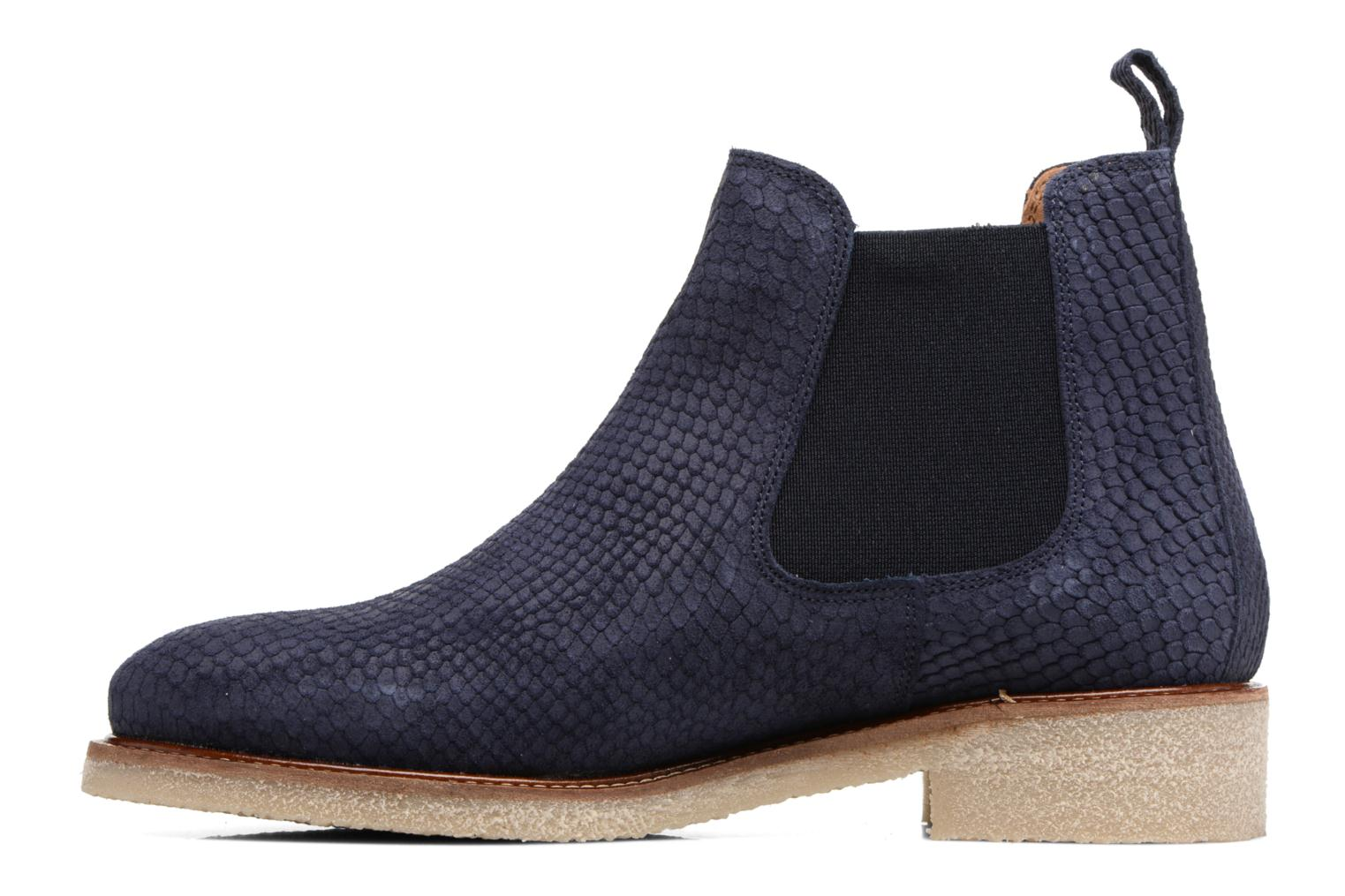 Ankle boots Bensimon Boots semelle crepe Blue front view