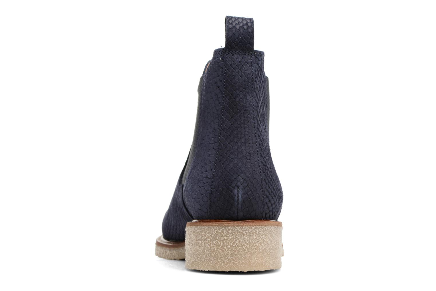 Ankle boots Bensimon Boots semelle crepe Blue view from the right