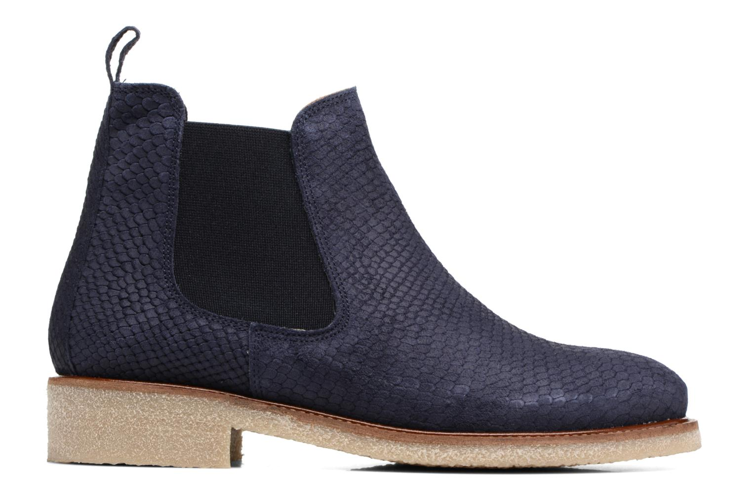 Ankle boots Bensimon Boots semelle crepe Blue back view