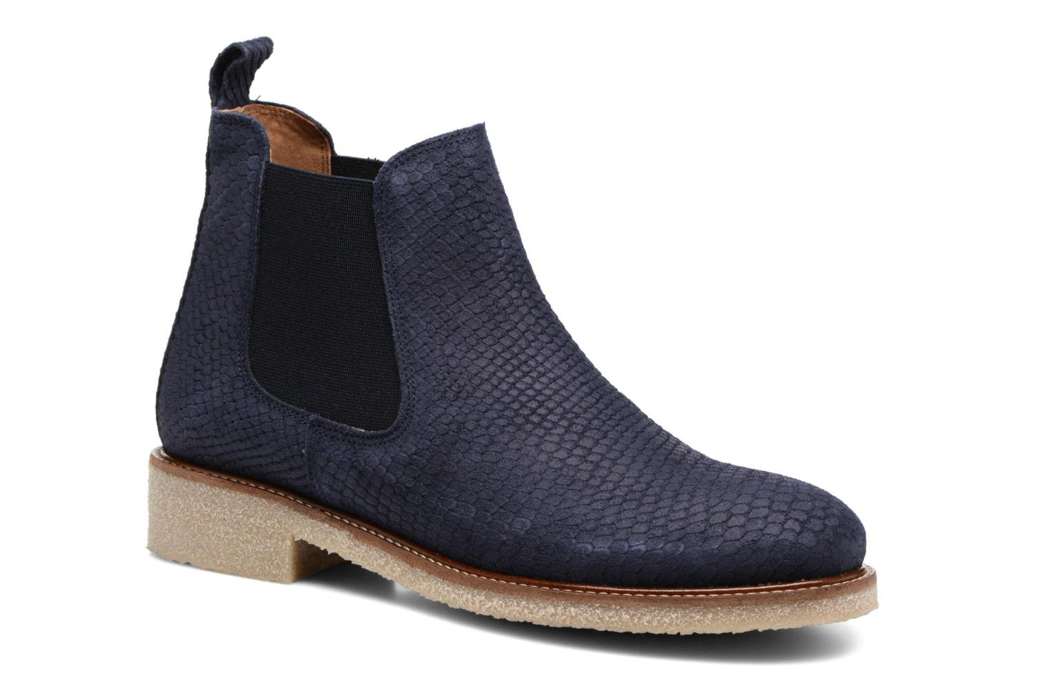 Ankle boots Bensimon Boots semelle crepe Blue detailed view/ Pair view