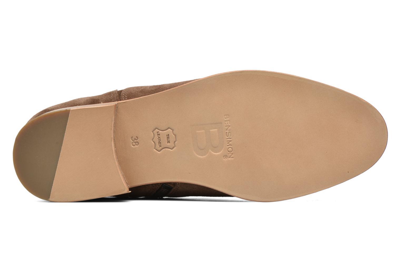 Botines  Bensimon Boots croute velours plate Marrón vista de arriba