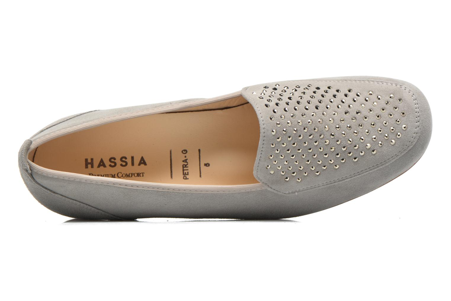 Loafers Hassia Petra 1744 Grey view from the left