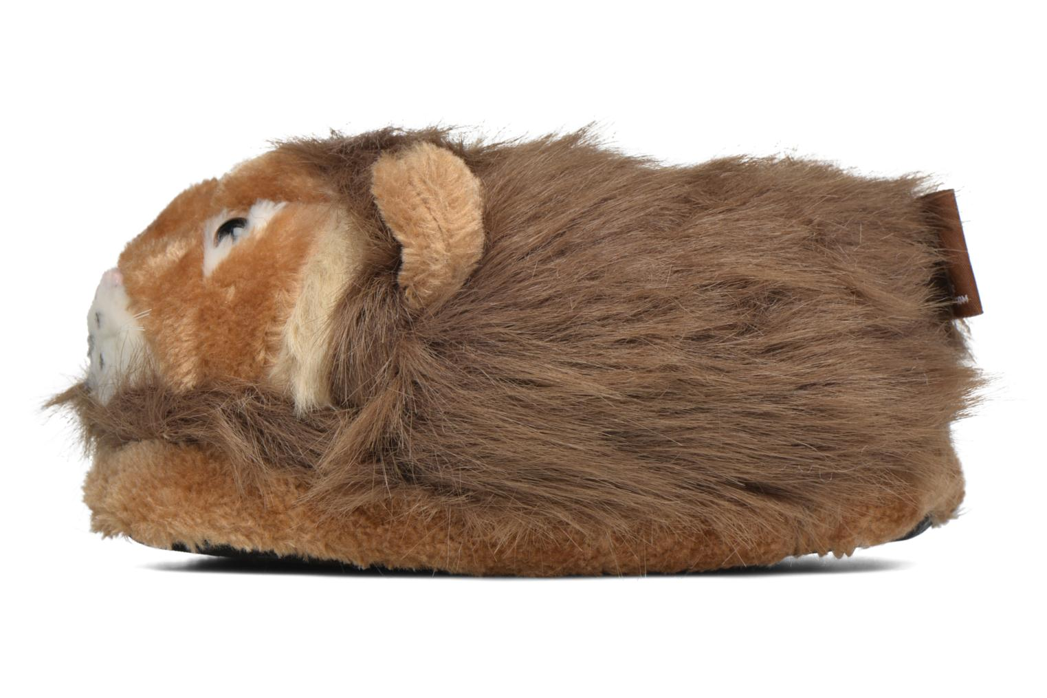 Chaussons Sleeperz Lions Marron vue face