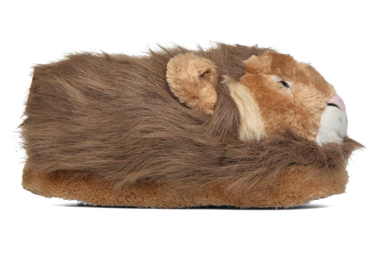 Hausschuhe Sleeperz Lions braun ansicht von hinten