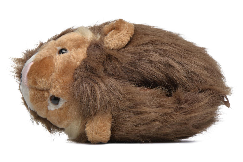 Pantuflas Sleeperz Lions Marrón vista lateral izquierda