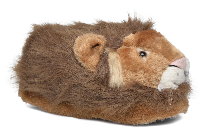 Chaussons Sleeperz Lions Marron vue détail/paire
