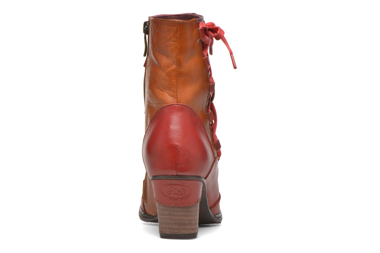Bottines et boots Laura Vita Anabelle08 Rouge vue droite