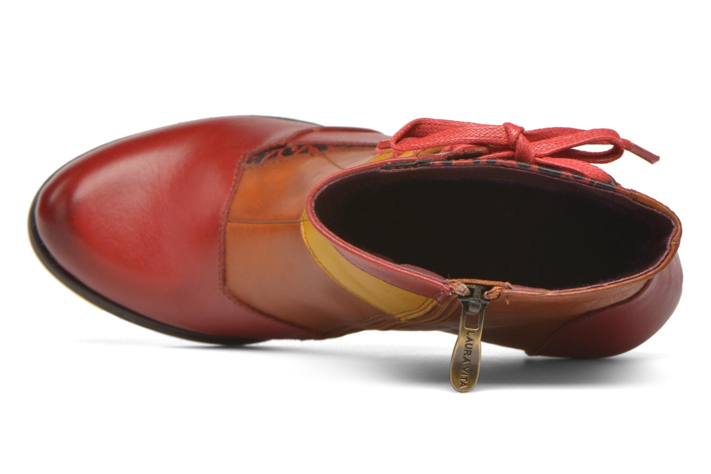 Bottines et boots Laura Vita Anabelle08 Rouge vue gauche