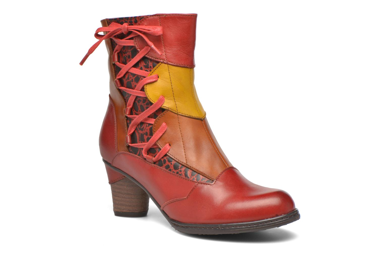Bottines et boots Laura Vita Anabelle08 Rouge vue détail/paire