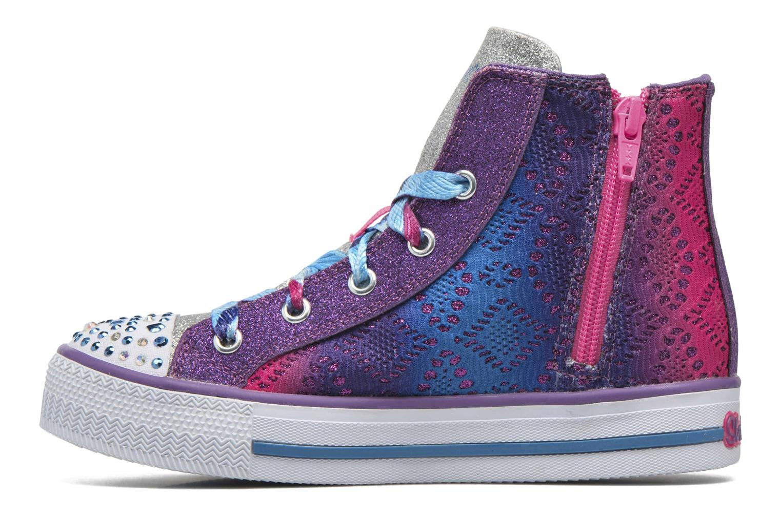 Trainers Skechers Shuffles Magic Madness Purple front view