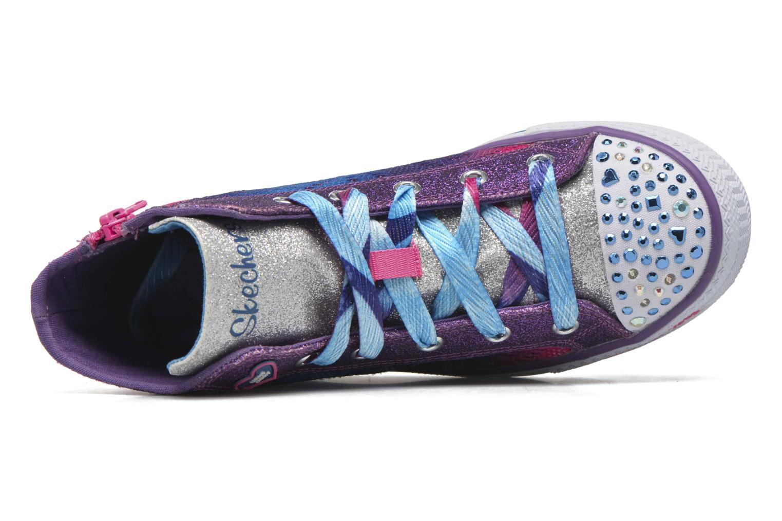 Trainers Skechers Shuffles Magic Madness Purple view from the left