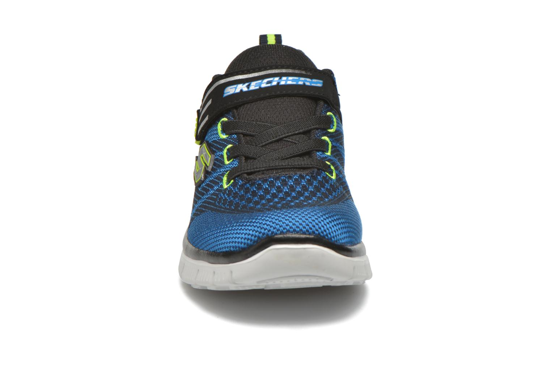 Baskets Skechers Flex Advantage Master Mind Bleu vue portées chaussures
