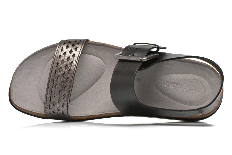 Sandales et nu-pieds Rockport Romilly Buckled Noir vue gauche
