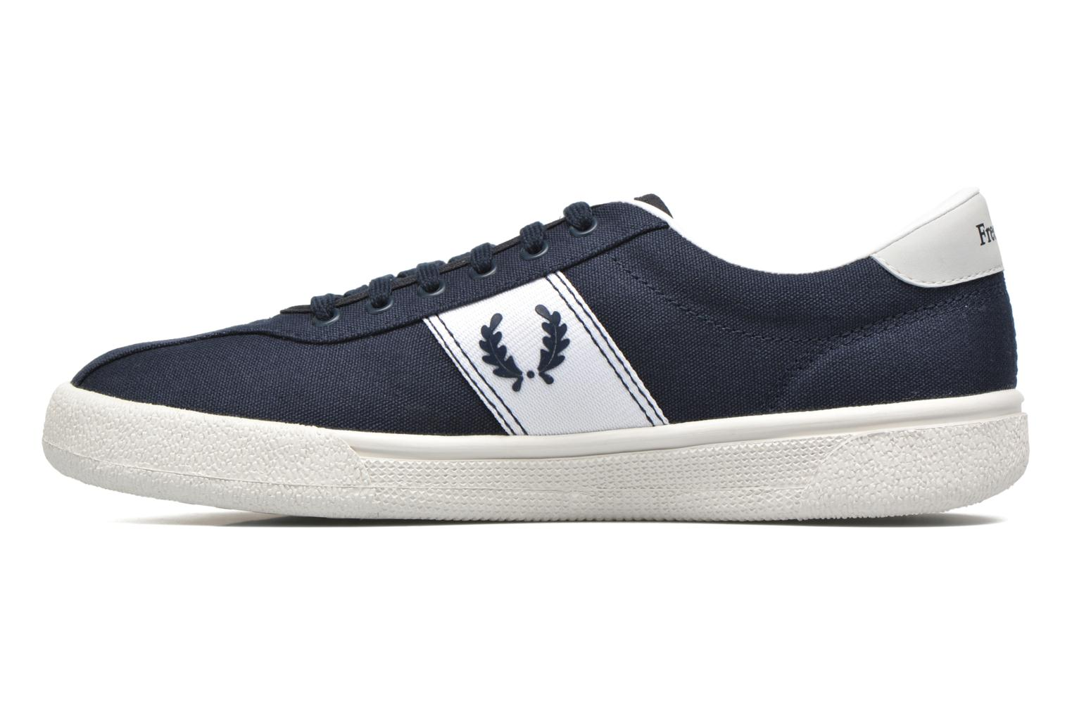 Baskets Fred Perry Other Canvas Bleu vue face