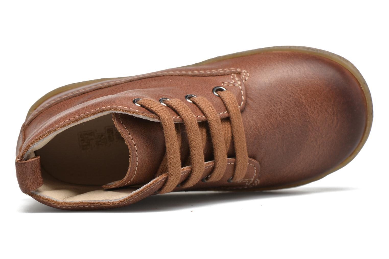 Chaussures à lacets Naturino Falcotto 1196 Marron vue gauche