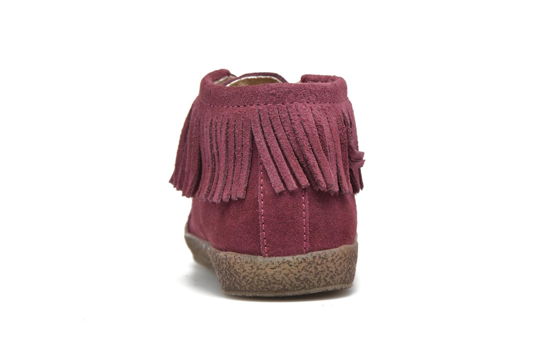 Chaussures à lacets Naturino Falcotto 4175 Bordeaux vue droite