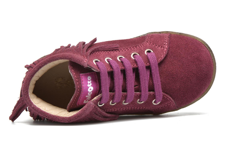 Zapatos con cordones Naturino Falcotto 4175 Vino vista lateral izquierda