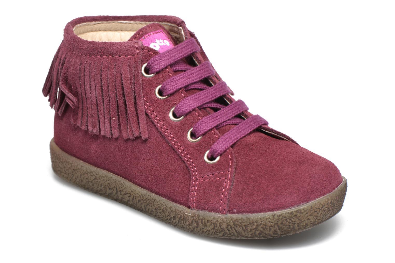 Chaussures à lacets Naturino Falcotto 4175 Bordeaux vue détail/paire