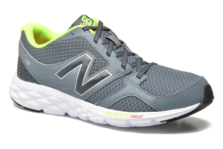 Chaussures de sport New Balance M490 D V3 Gris vue détail/paire