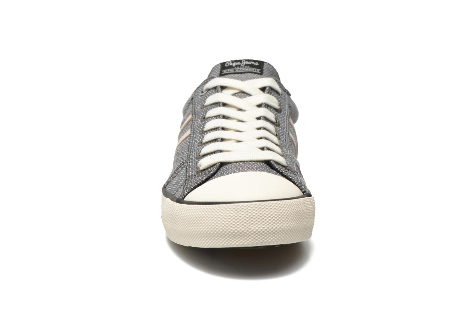 Baskets Pepe jeans Serthi fabric Gris vue portées chaussures