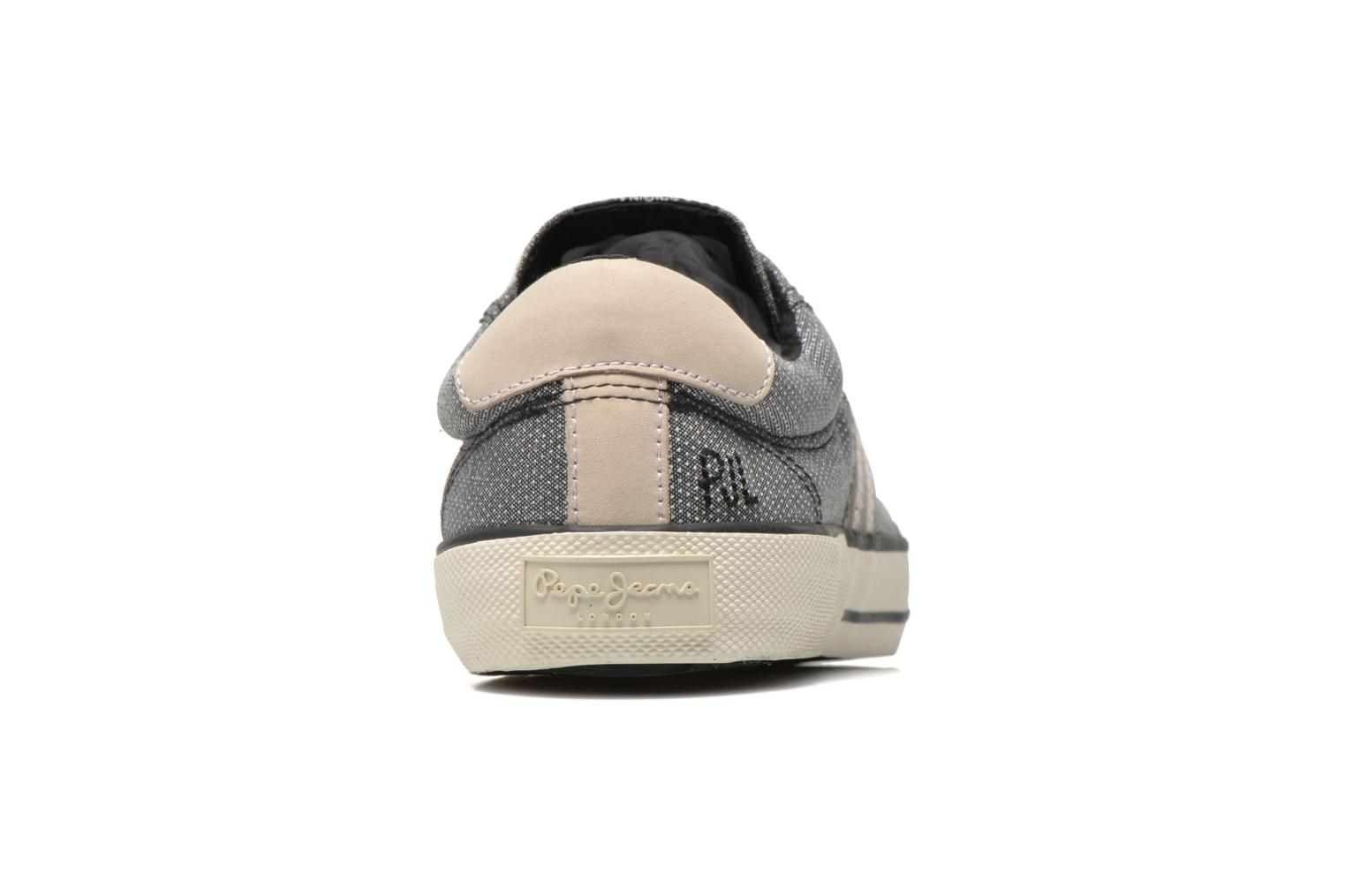 Baskets Pepe jeans Serthi fabric Gris vue droite
