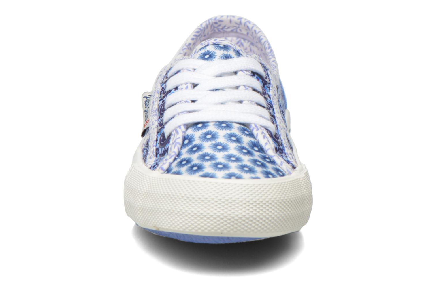 Trainers Pepe jeans Baker flowers Blue model view