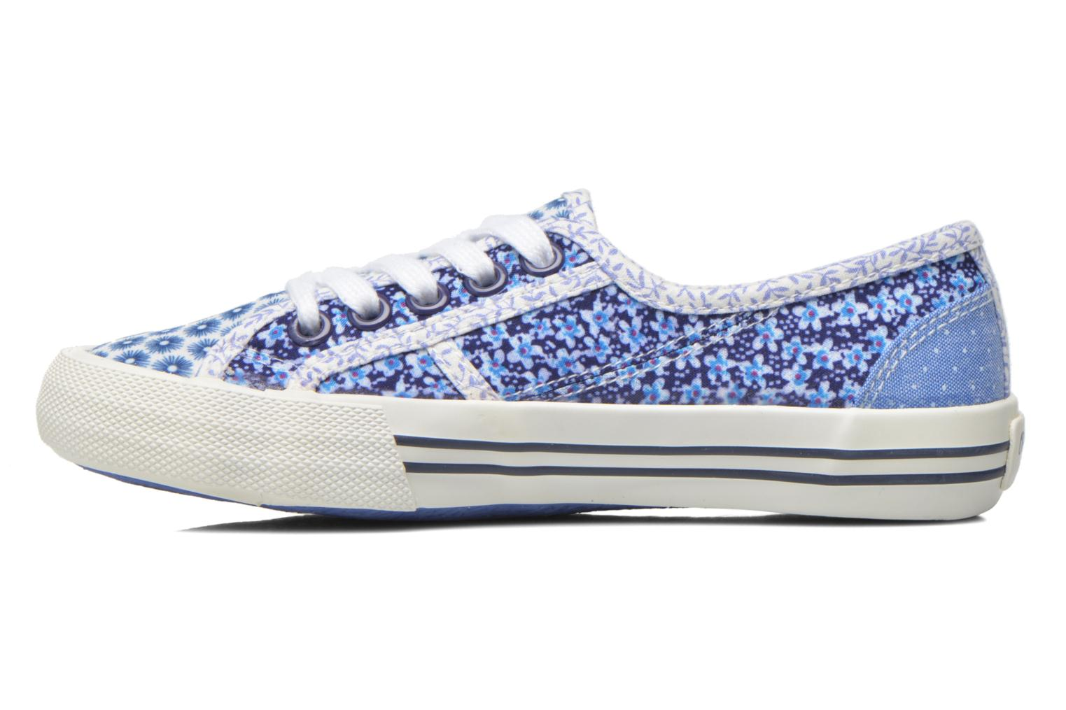Trainers Pepe jeans Baker flowers Blue front view