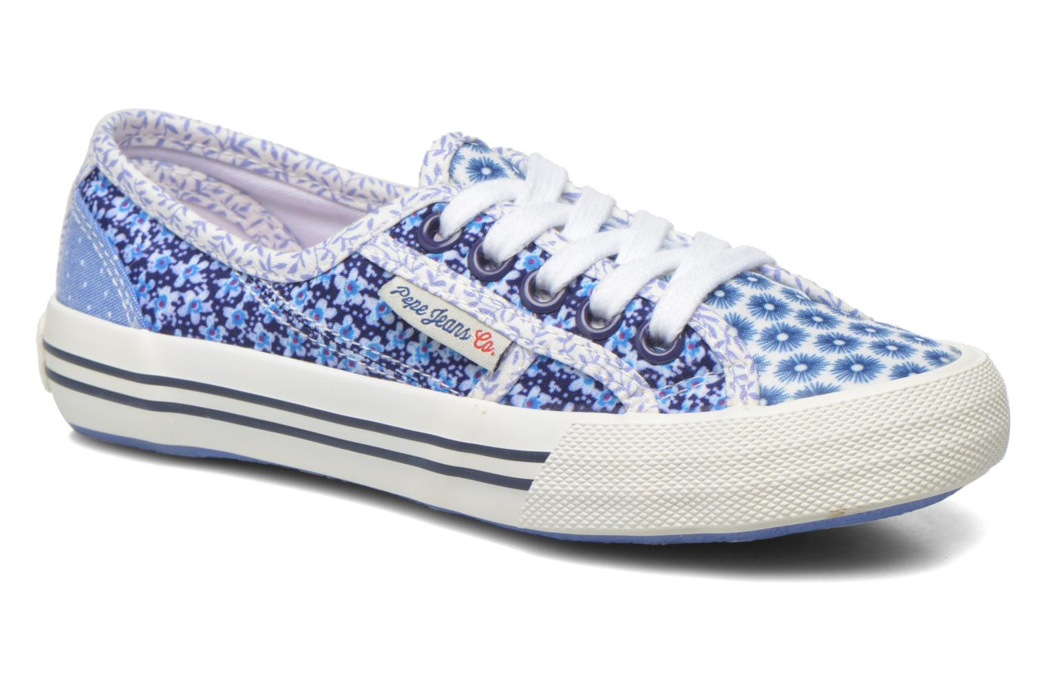 Trainers Pepe jeans Baker flowers Blue detailed view/ Pair view