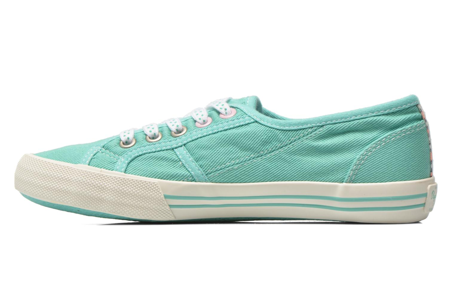Trainers Pepe jeans Baker plain Green front view