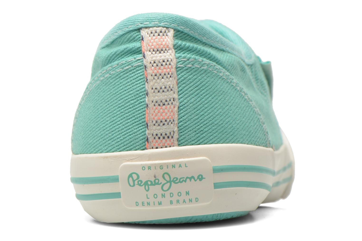 Trainers Pepe jeans Baker plain Green view from the right