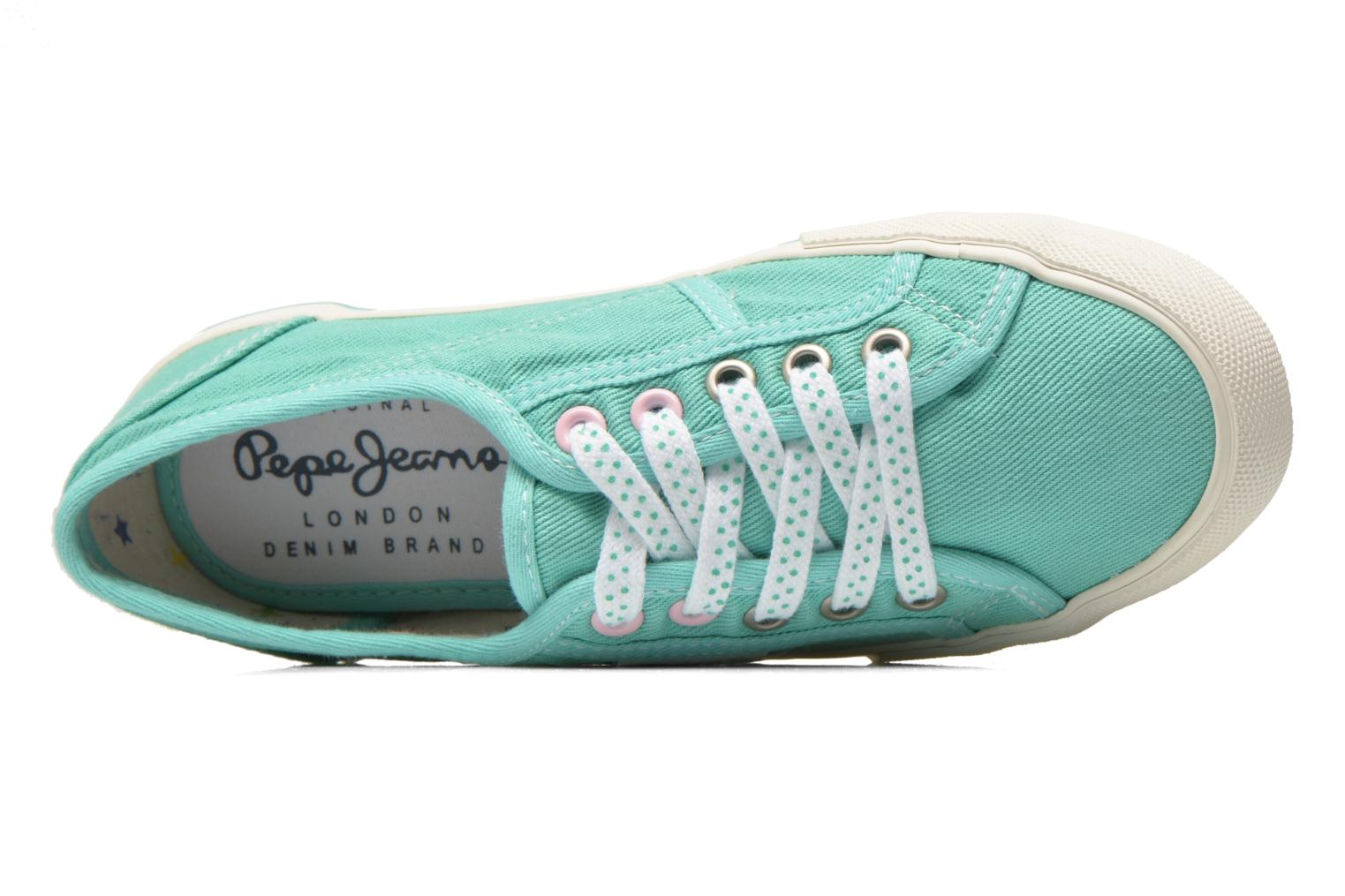 Trainers Pepe jeans Baker plain Green view from the left